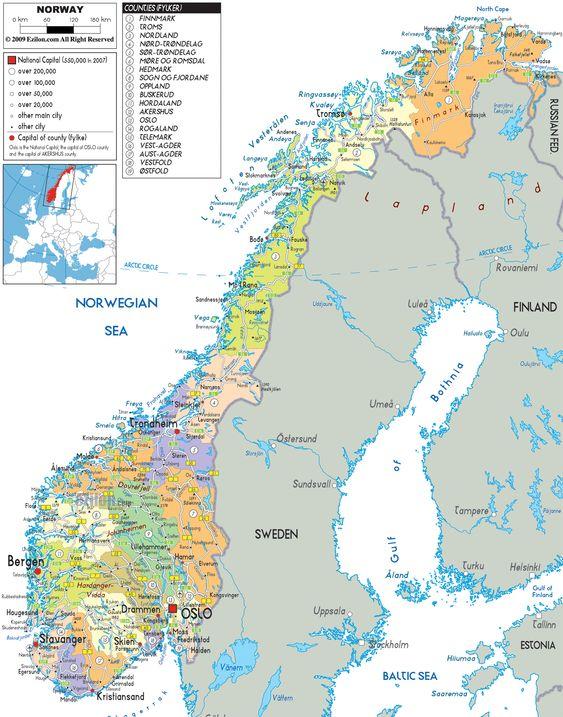Map Of The Norway Coast Visited By Hurtigruten Ships Hurtigruten - Norway map larvik