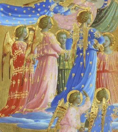 BEATO ANGELICO - Morte e Assunzione della Vergine, dettaglio - circa 1432 - tempera e oro su tavola
