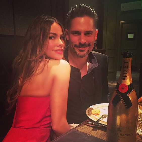 Sofia Vergara and Joe Manganiello at their engagement party.