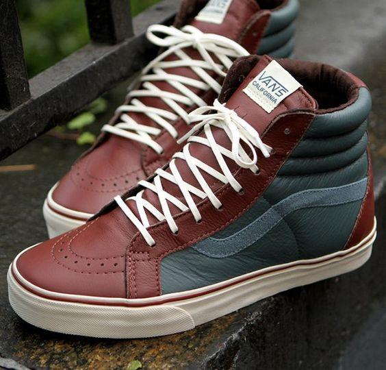 Cool Stuff We Like Here @ CoolPile.com ------- << Original Comment >> ------- Vans Leather Sk8-Hi Reissue CA