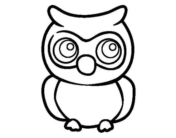 Dibujo de Búho joven para colorear  Dibujos de Animales ...