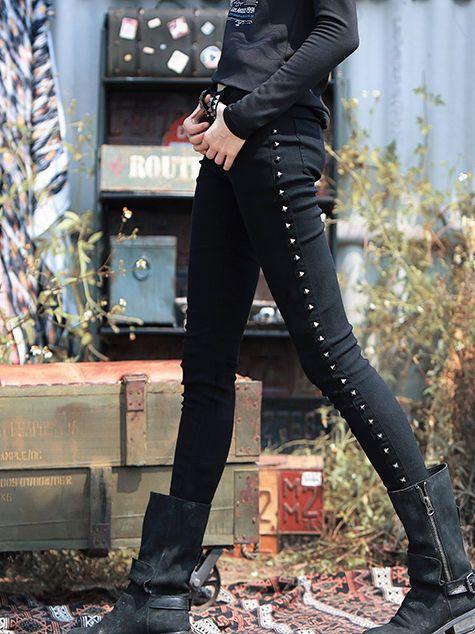 Vintage Style Black Skinny Leg Pants - StyleWe.com