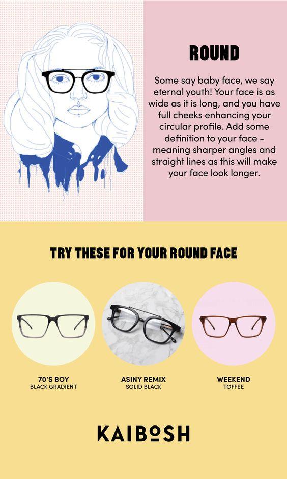 KAIBOSH | Glasses for Round Face Shapes | Shop glasses now on www.kaibosh.com