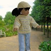 "Out for A Walk 18"" doll knitting pattern - via @Craftsy"