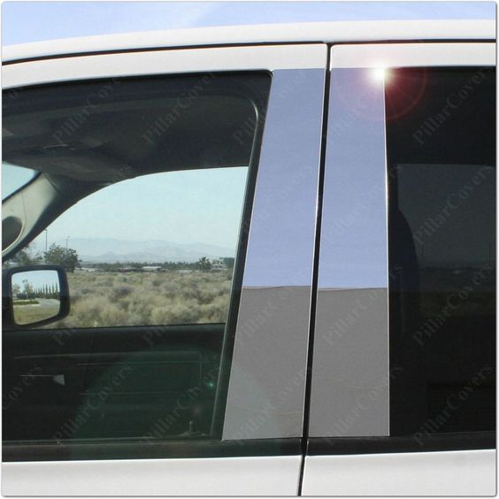 Chrome Pillar Posts for Chrysler PT Cruiser 00-12 6pc Set Door Trim Cover Kit…