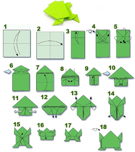 how to fold an origami frog tutorial visit http