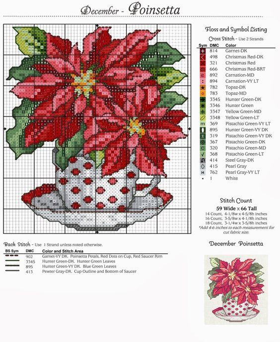 Miniatyury Cvetochnyj Kalendar Nel 2020 Punto Croce Fiori A Punto Croce Ricamo Punto Croce
