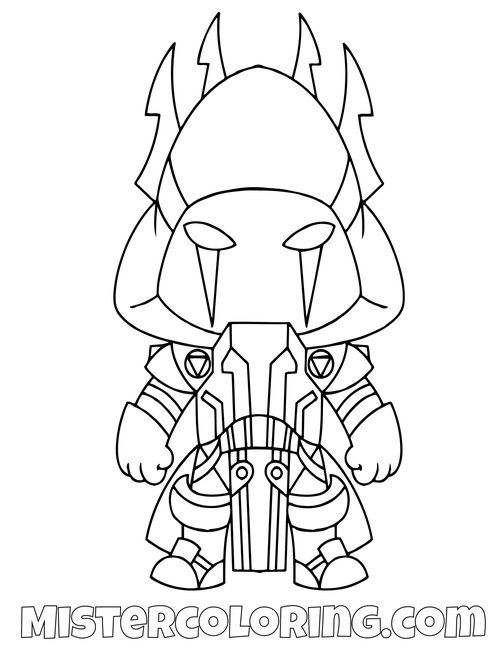 The Ice King Chibi Skin Fortnite Coloring Page Coloring Pages