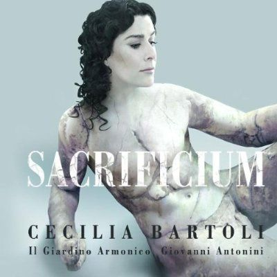 The concept of castrati is already a little creepy. The cover of Cecilia Bartoli's album of arias written for castrati takes the creep factor farther.: