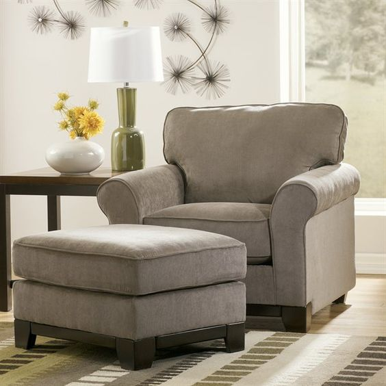 Ashley Furniture Gallery: Signature Design By Ashley Riley Chair And Ottoman Set