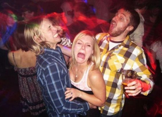 When Hipsters Attack Men in plaid shirts dancing with a girl
