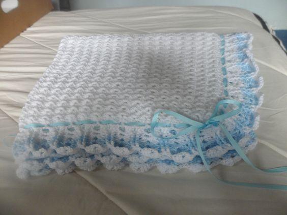 Colcha para bebe varon hecha a crochet crochet - Colchas ganchillo bebe ...