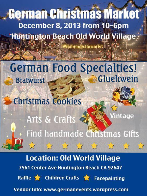German Christmas market Old World Village Huntington Beach CA - www.germanevents.wordpress.com