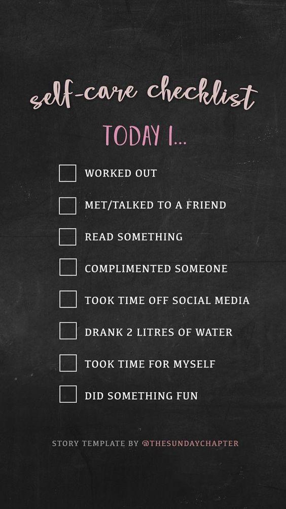 Self Care Challenge Checklist
