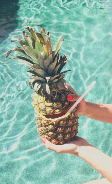 Perfect pineapple theme pool party. #ShareaCokeSweepstakes: