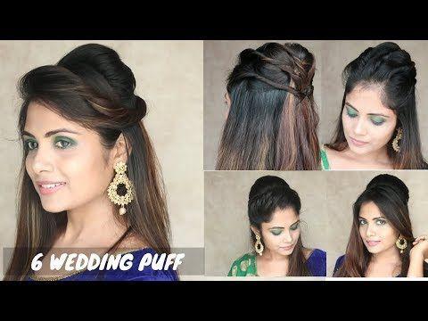 6 Puff Hairstyle For Wedding Easy Puff Hairstyle For Medium Hair Youtube In 2020 Medium Hair Styles Hair Puff Hair Growth Oil
