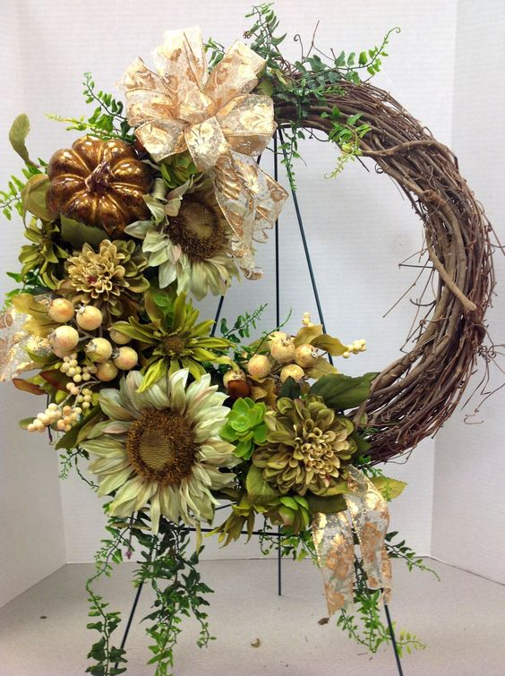 Talented Michaels Designers Fall wreath 2013 by Andi (9989)
