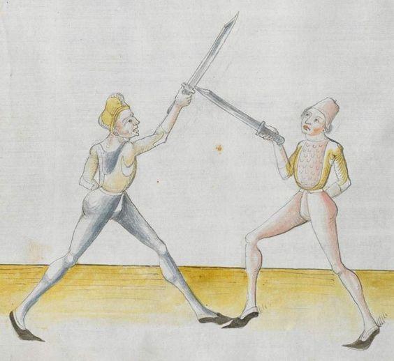 Lecküchner, Hans: Kunst des Messerfechtens Nordbayern, 1482 Cgm 582 Folio 62
