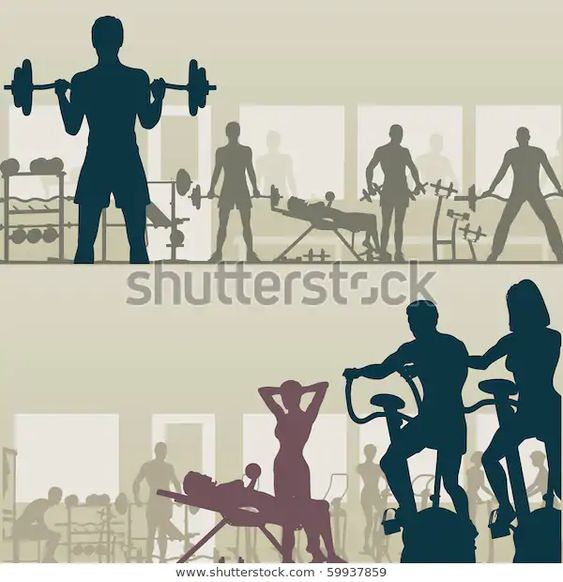 Two Editable Vector Silhouettes People Exercising のベクター画像