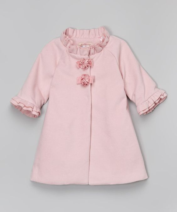 Look at this Pink Ruffle Coat - Toddler & Girls on #zulily today!
