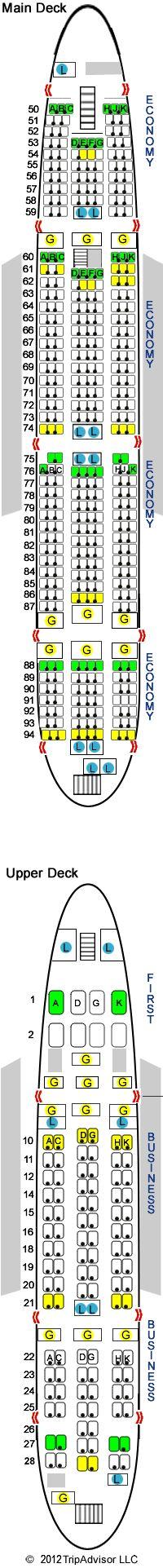 Lufthansa A380 By Seat guru
