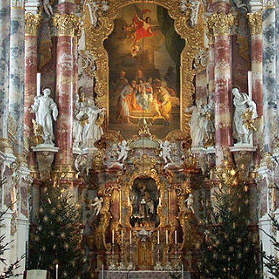 Wieskirche a new level in rococo repin by pinterest for for Churches of baroque period