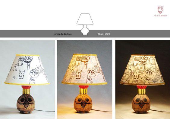 Lampada d'artista_RE DEI GUFI  (collezione privata)