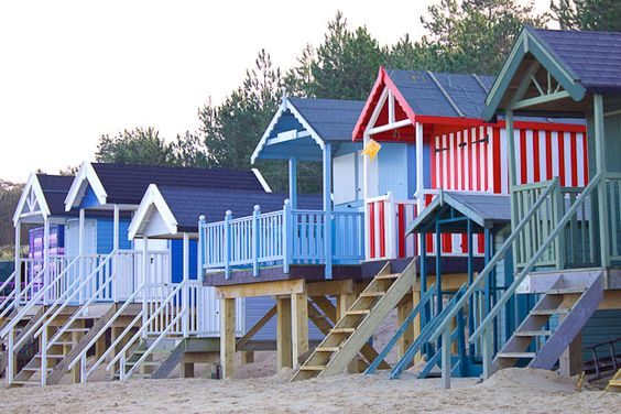 Norfolk beach huts ... colour scheme for G's new shed?! xx