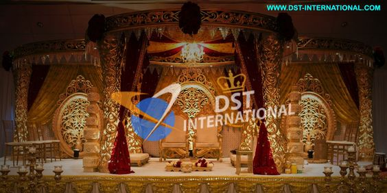 #Stylish #Golden #Mandap #DSTInternational