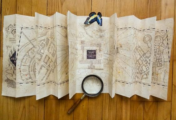 Potter Frenchy Party - Harry Potter Marauder's map DIY