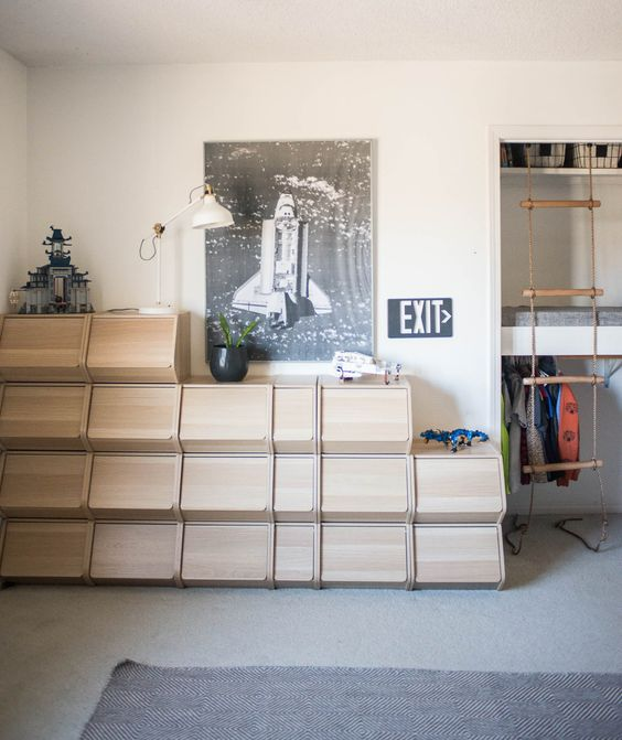 prachtge woonkamerkast voor opbergen van LEGO en ander speelgoed