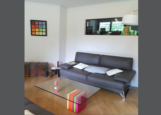 Pied-G coffee table in a private living-room creation, by Sandrine Reverseau - Les Pieds Sur La Table