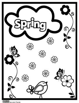 oakley sunglasses coloring pages | Spring Coloring Page {FREEBIE} | Innovative Teacher at TPT ...