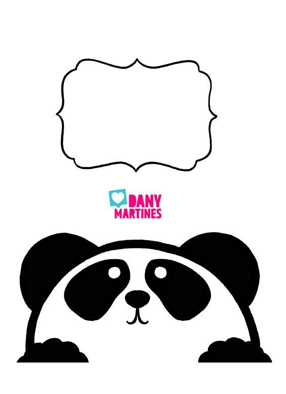 Molde Panda Capa De Caderno E Etiqueta Capa De Caderno
