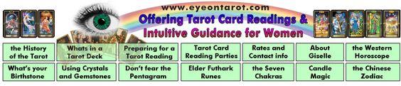 www.eyeontarot.com  Offering Tarot Card Readings & Intuitive Guidance for Women.
