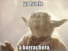 ya huele  a borrachera | Yoda buguero meme | Crear Memes | Generador de Memes