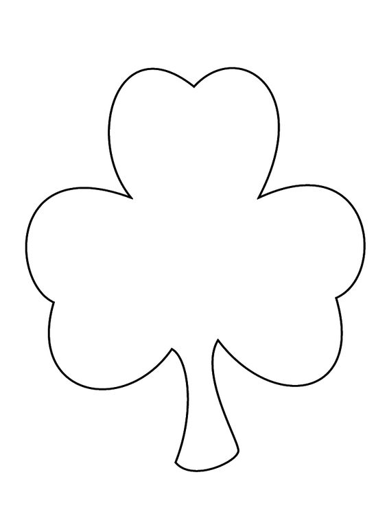 Shamrock Pattern For Coloring Painting Scissor Cutting Practice