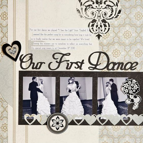 Our First Dance Divine Wedding Planning Addition Scrapbook Layout