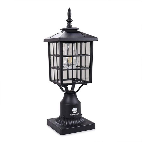 Kemeco St4224q Led Cast Aluminum Solar Post Light Fixture With 3 Inch Fitter Base For Outdoor Garden Post Pole Mount Post Lights Solar Post Lights Light Fixtures