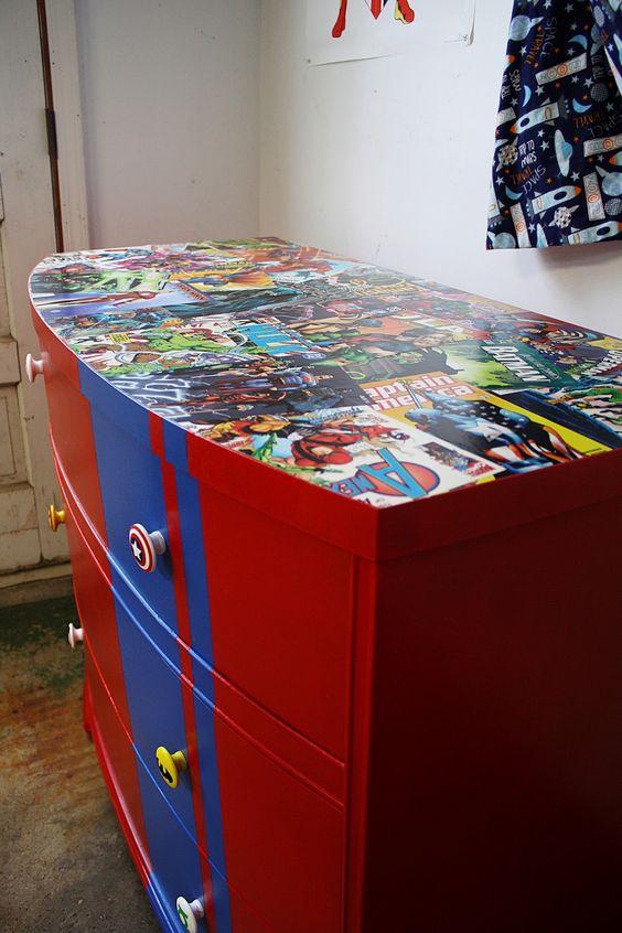 Superhero Dresser Room Decor Pinterest Boys Tween