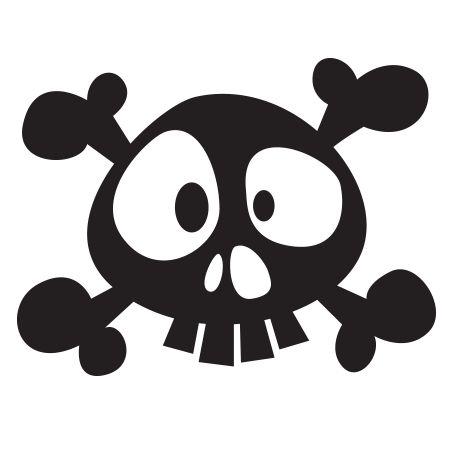 Stickers - KOMOA Design - Stickers DECORS DE PIRATE Tête de mort