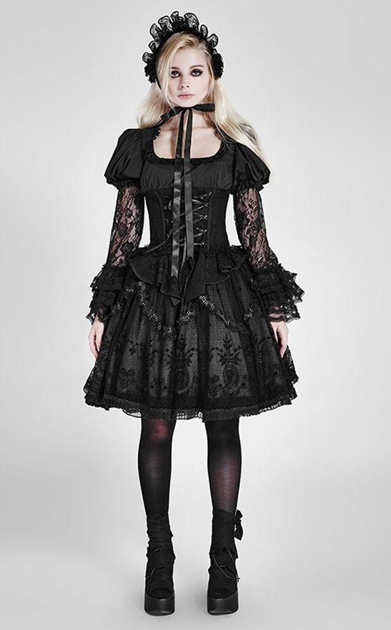 Rock Gothic Lila Steampunk Lolita Punk Rave Skirt Tüll Rose Spitze Pyon LQ057 in Kleidung & Accessoires, Damenmode, Röcke   eBay
