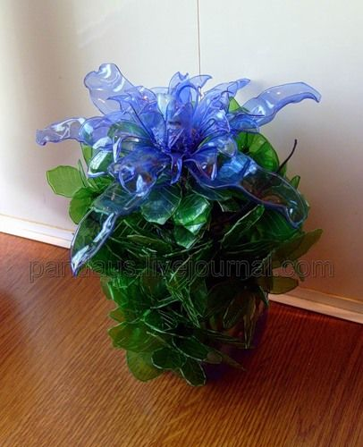Exotic flowers plastic bottles and exotic on pinterest for Recycled crafts from plastic bottles