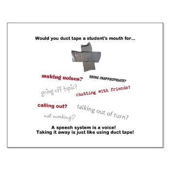 Would you tape a student's mouth? Poster