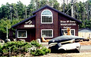 Fluid, graceful dolphins, cavorting seals, magnificent orcas, impressive bears... These are but a few of the lifelike marine and wildlife wood sculptures you'll find at Brian McEneny Woodcarving Gallery.