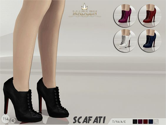 The Sims Resource: Madlen Scafati Boots by MJ95 • Sims 4 Downloads