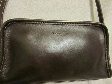 COACH - Authentic 1970's Coach Brown Leather Crossbody Bag