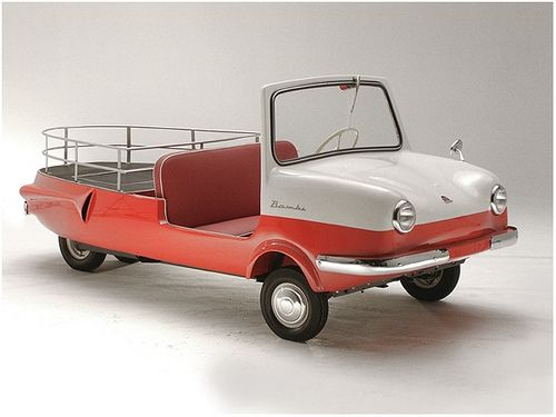 1963 bambi sporty pickup, I could use this to drive the dog and the boy around and also haul the bikes. So rad.
