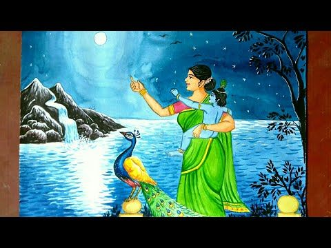 Janmashtami Drawing Krishna Drawing Easy Step By Step Youtube Krishna Drawing Easy Drawings Background Drawing