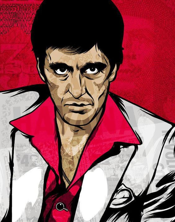 Al pacino montana and the wall on pinterest for Occhiali al pacino scarface